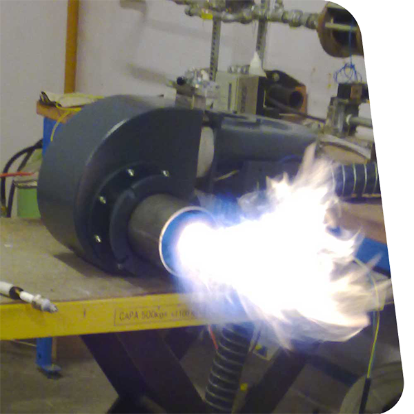 brûleur-équiepement neuf avec flamme bleue et forme