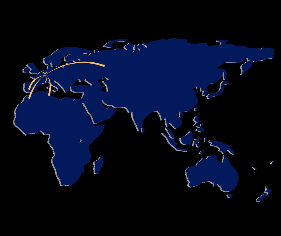 carte avec Afrique, Asie, Europe